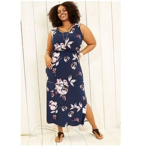NWT Maurice's 3x strappy neck floral maxi dress